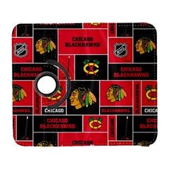 Chicago Blackhawks Nhl Block Fleece Fabric Samsung Galaxy S  Iii Flip 360 Case by Onesevenart