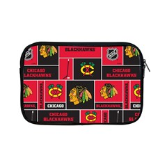 Chicago Blackhawks Nhl Block Fleece Fabric Apple Ipad Mini Zipper Cases by Onesevenart