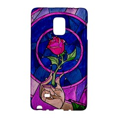 Enchanted Rose Stained Glass Galaxy Note Edge by Onesevenart