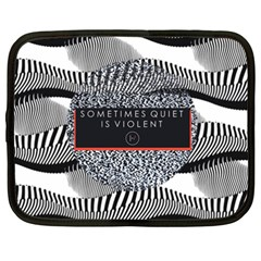 Sometimes Quiet Is Violent Twenty One Pilots The Meaning Of Blurryface Album Netbook Case (XXL)  by Onesevenart