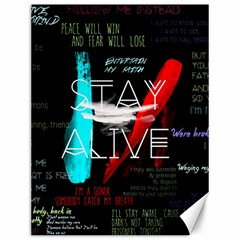 Twenty One Pilots Stay Alive Song Lyrics Quotes Canvas 12  x 16   by Onesevenart