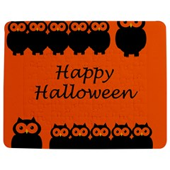 Happy Halloween   Owls Jigsaw Puzzle Photo Stand (rectangular) by Valentinaart