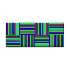 Fabric Pattern Design Cloth Stripe Hand Towel by AnjaniArt