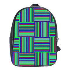 Fabric Pattern Design Cloth Stripe School Bags (xl)  by AnjaniArt