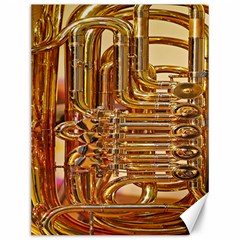 Tuba Valves Pipe Shiny Instrument Music Canvas 12  X 16   by AnjaniArt