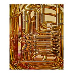 Tuba Valves Pipe Shiny Instrument Music Shower Curtain 60  X 72  (medium)  by AnjaniArt