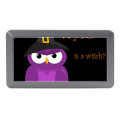 Who Is A Witch?   Purple Memory Card Reader (mini) by Valentinaart
