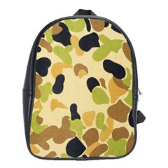 Camouflage Pattern Army School Bags (xl)  by AnjaniArt
