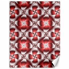 Floral Optical Illusion Canvas 36  X 48   by AnjaniArt