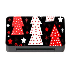Red Playful Xmas Memory Card Reader With Cf by Valentinaart