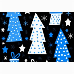 Blue Playful Xmas Collage Prints by Valentinaart