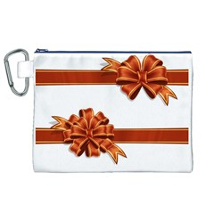 Gift Ribbons Canvas Cosmetic Bag (xl) by AnjaniArt