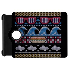 Ugly Summer Ugly Holiday Christmas Black Background Kindle Fire Hd Flip 360 Case by Onesevenart