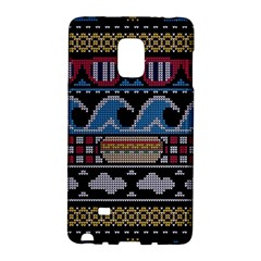 Ugly Summer Ugly Holiday Christmas Black Background Galaxy Note Edge by Onesevenart