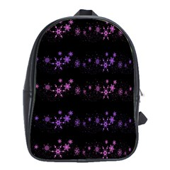 Purple Elegant Xmas School Bags (xl)  by Valentinaart