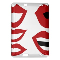 Lip Sexy Red Amazon Kindle Fire Hd (2013) Hardshell Case by AnjaniArt
