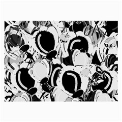 Black And White Garden Large Glasses Cloth (2 Side) by Valentinaart