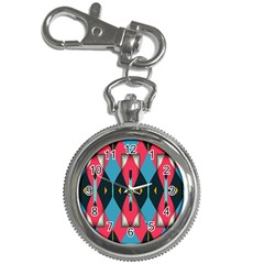 Triangles Stripes And Other Shapes                                                                                                         			key Chain Watch by LalyLauraFLM