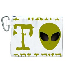 I Want To Believe Canvas Cosmetic Bag (xl) by Onesevenart