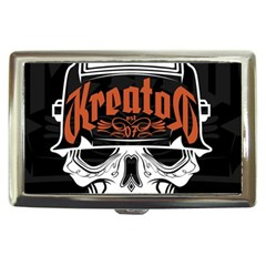 Kreator Thrash Metal Heavy Hard Rock Skull Skulls Cigarette Money Cases by Onesevenart