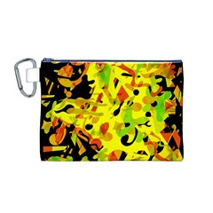 Fire Canvas Cosmetic Bag (M) by Valentinaart