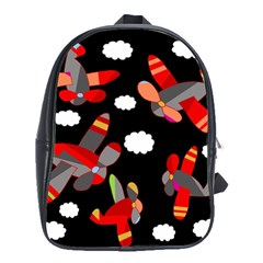 Playful Airplanes  School Bags(large)  by Valentinaart