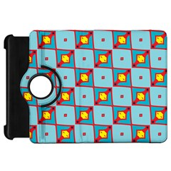 Shapes In Squares Pattern                                                                                                           			kindle Fire Hd Flip 360 Case by LalyLauraFLM