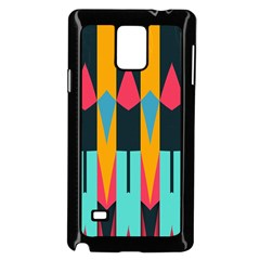 Shapes And Stripes                                                                                                            			samsung Galaxy Note 4 Case (black) by LalyLauraFLM
