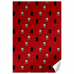 Cute Zombie Pattern Canvas 12  X 18   by AnjaniArt