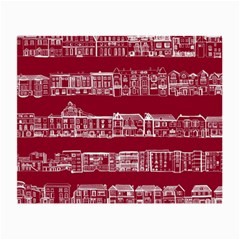 City Building Red Small Glasses Cloth by AnjaniArt