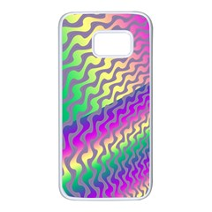 Line Colour Wiggles Samsung Galaxy S7 White Seamless Case by AnjaniArt