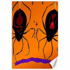 Happy Hellpween Spider Canvas 12  X 18   by AnjaniArt