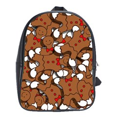 Christmas Candy Seamless Pattern Vectors School Bags(large)  by Onesevenart
