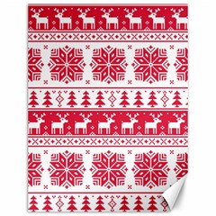 Christmas Patterns Canvas 12  x 16   by Onesevenart
