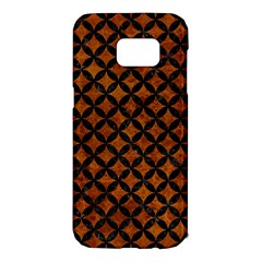 Circles3 Black Marble & Brown Marble (r) Samsung Galaxy S7 Edge Hardshell Case by trendistuff