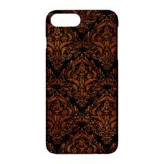 Damask1 Black Marble & Brown Marble Apple Iphone 7 Plus Hardshell Case