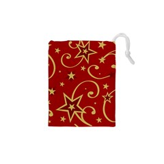 Elements Of Christmas Decorative Pattern Vector Drawstring Pouches (xs)  by Onesevenart