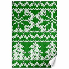 Knitted Fabric Christmas Pattern Vector Canvas 24  X 36  by Onesevenart