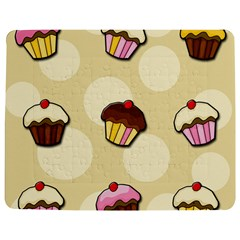 Colorful Cupcakes Pattern Jigsaw Puzzle Photo Stand (rectangular) by Valentinaart