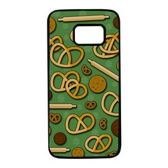 Bakery 4 Samsung Galaxy S7 Black Seamless Case by Valentinaart