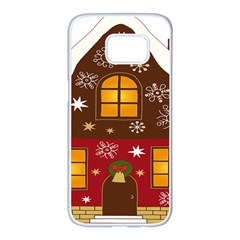 Christmas House Clipart Samsung Galaxy S7 Edge White Seamless Case by Onesevenart