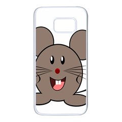 Raton Mouse Christmas Xmas Stuffed Animal Samsung Galaxy S7 White Seamless Case by Onesevenart