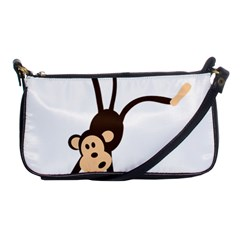 Colorful Animal Monkey Shoulder Clutch Bags by AnjaniArt