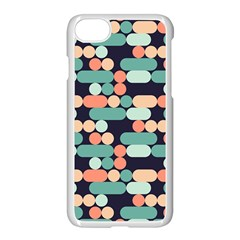 Coral Mint Color Style Apple Iphone 7 Seamless Case (white)