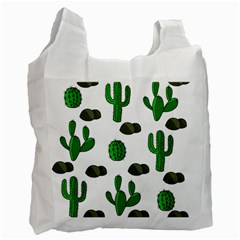 Cactuses 3 Recycle Bag (one Side) by Valentinaart