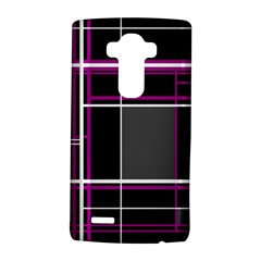Simple Magenta Lines Lg G4 Hardshell Case by Valentinaart