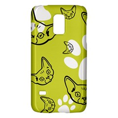 Face Cat Green Galaxy S5 Mini by AnjaniArt