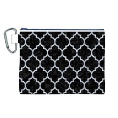 Tile1 Black Marble & Gray Marble Canvas Cosmetic Bag (large) by trendistuff