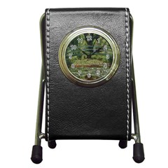 The Japanese Footbridge By Claude Monet Pen Holder Desk Clocks by ArtMuseum