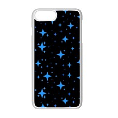 Bright Blue  Stars In Space Apple Iphone 7 Plus White Seamless Case by Costasonlineshop